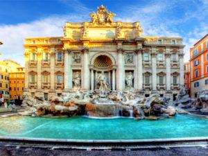 trevi fontain. Roma. Italy