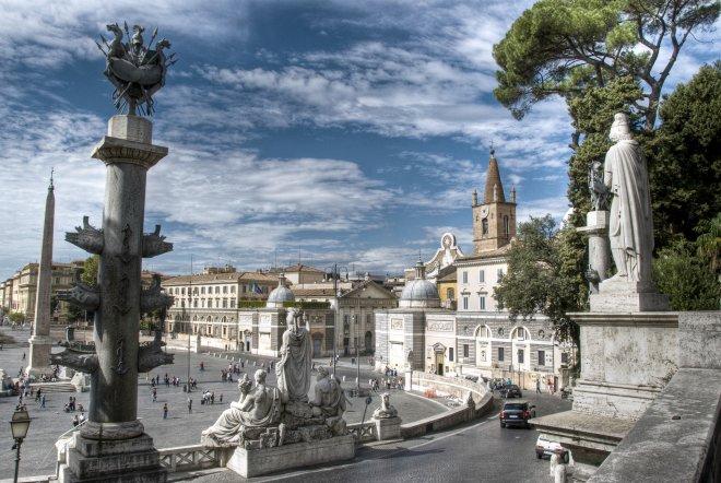 piazza del poppolo. Roma. Italy Маршрут по Риму
