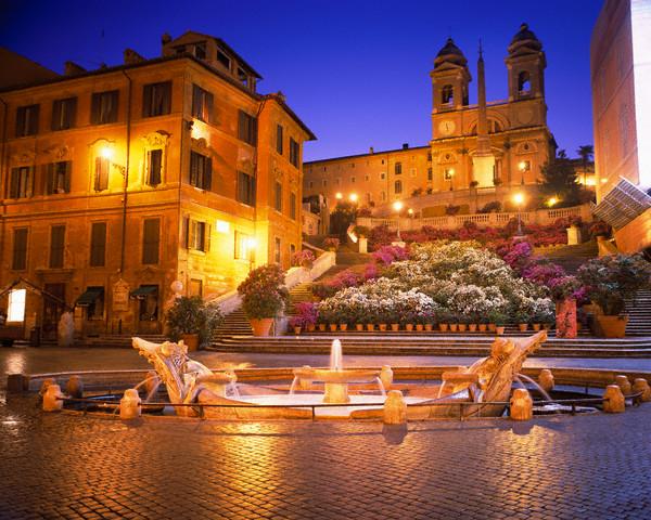 scala di spagna azalia. Roma. Italy Маршрут по Риму