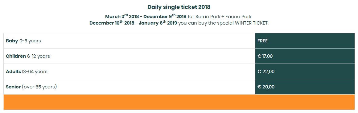 цены на билеты сафари парк и зоопарк натура вива озеро гарда для детей развлечения